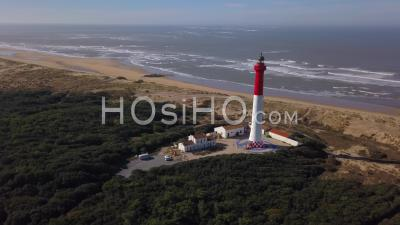 La Tremblade Lighthouse Of The Coubre Video Drone Footage