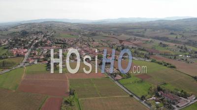 Beaujolais Region Landscape - Video Drone Footage
