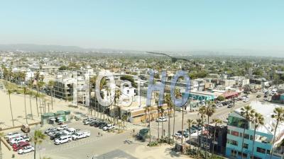 Aerial Over Santa Monica, California - Video Drone Footage