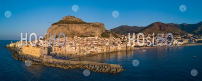 Cefalu At Sunset - Aerial Photography