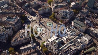 Trafalgar Square, Horse Guards Et Buckingham Palace, Londres, Filmés En Hélicoptère
