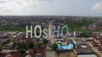 Street Over Cotonou - Video Drone Footage