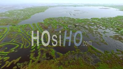 Soirée Sur Les Canaux Du Lac Nokoué - Vidéo Drone