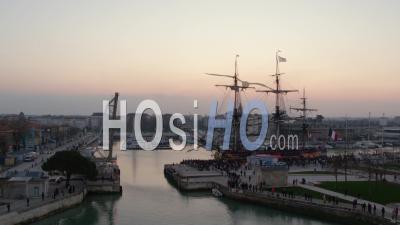 L'hermione Frigate At La Rochelle - Drone Point Of View