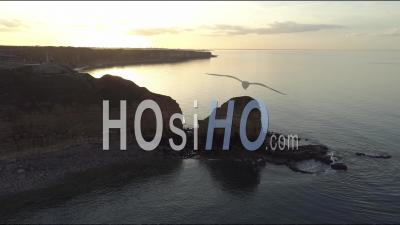 Pointe Du Hoc Of The Calvados - Video Drone Footage