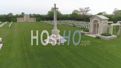 Commonwealth Military Cemetery Of Tilly-Sur-Seulles  - Drone Point Of View