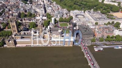 Chambres Du Parlement Et L'abbaye De Westminster, Londres, Filmé Par Hélicoptère