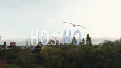 Skyline Of The City Of London From The North - Video Drone Footage