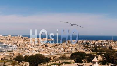 Les Villes De Vittoriosa Et De La Valette Et L'entrée Du Grand Port De Malte - Vidéo Drone