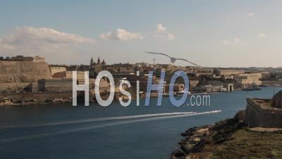 Time Lapse View Of La Valette Et Manoel Island à Malte - Vidéo Drone
