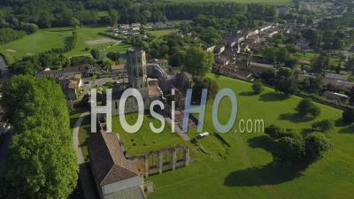 Aerial View Abbey Sauve-Majeure, Route To Santiago Compostela, Unesco