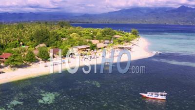 Récifs De Coraux Sud De Ile De Gili Air - Vidéo Drone