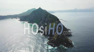 Aerial View Of The Cape Of Hope And Cape Point Where Indian And Atlantic Oceans Meet At The Southern Tip Of South Africa - Vu Par Drone
