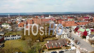 Aerial View Over Martinsburg, West Virginia Shows A Typical All Amercian Town - Drone Point Of View
