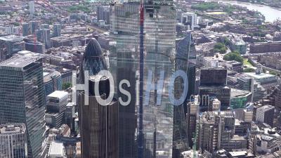 Tours De La Ville De Londres, Londres, Filmées Par Hélicoptère