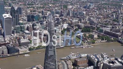 The Shard, La Tour De Londres Et La Ville De Londres Filmés Par Hélicoptère