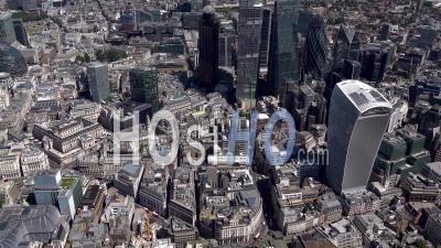 Tours De La Ville De Londres, La Tamise Et Le Quai De Canary, Londres, Filmés Par Hélicoptère