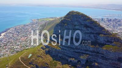 Aerial View Looking Straight Down Over Small Rich Villages And Enclaves South Of Cape Town, South Africa - Drone Point Of View