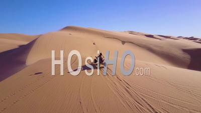 Dune Buggies And Atvs Race Across The Imperial Sand Dunes In California - Drone Point Of View