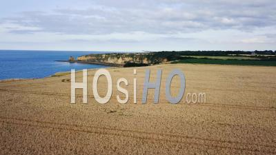 Pointe Du Hoc, Normandie, France, Vidéo Drone