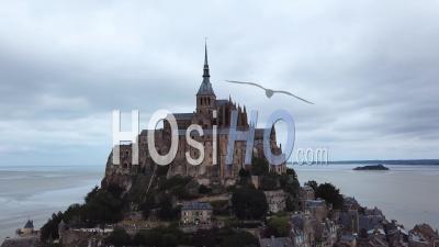 Mont Saint-Michel, Normandie, France, Vidéo Drone