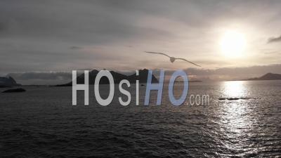 Le Lever Du Soleil Sur L'océan - Vidéo Drone