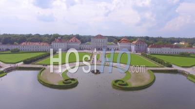 Aerial View Of Nymphenburg Palace, Munich, Bavaria, Germany - Video Drone Footage