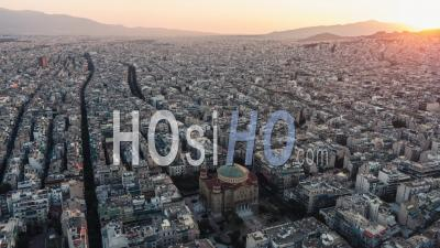 Establishing Aerial View Of Athens, Greece - Video Drone Footage