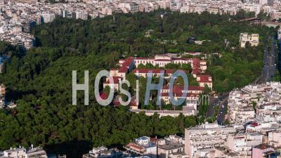 Vue Aérienne D'athènes, La Cour D'athènes, Grèce - Vidéo Drone