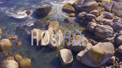 Rocky Coastline Cape Town, South Africa - Video Drone Footage