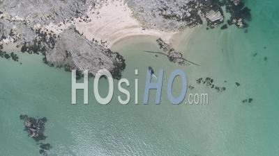 Ile à Chausey, Aux Bords De La Manche Près De Granville, Normandie, France. - Vidéo Drone