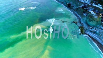 Paysage Côtier Calcaire Sur L'île Gotland, Suède - Vu Du Drone