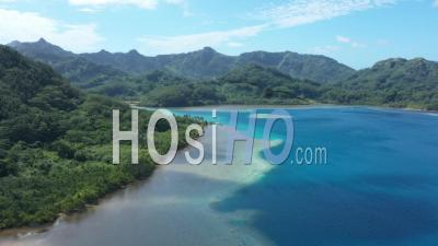 Aerial View Of The Bay Of Bourayne In French Polynesia - Drone Point Of View