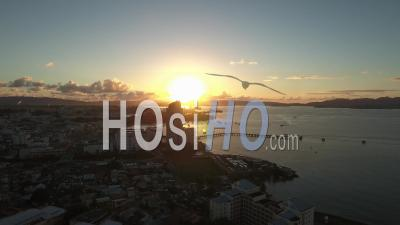 Aerial View Of Fort-De-France, Martinique At Sunset - Video Drone Footage