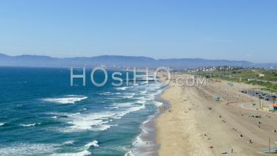 Aerial View Of Dockweiler Beach