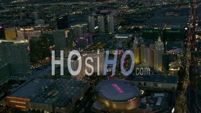 Vue Aérienne Du Célèbre Strip De Las Vegas