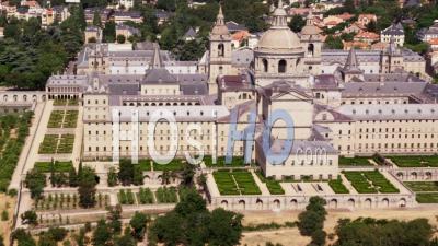 Aerial View Of El Escorial Palace Near Madrid