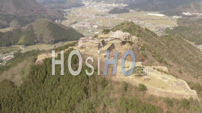 Ruins Of Takeda Castle, Hyoogo Prefecture, Japan - Video Drone Footage
