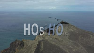 Dos Capelinhos Volcano In Azores - Video Drone Footage