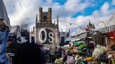 The Market Square In Cambridge (england)