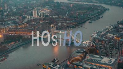 Time Lapse De Tower Bridge, Londres Au Crépuscule