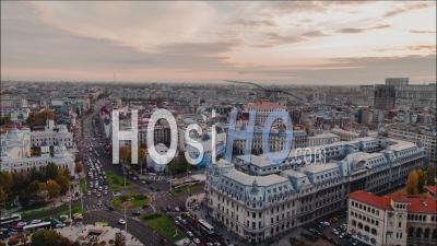 Time Lapse Of University Square, Bucharest