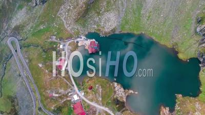Mountain Lake And Cabin - Video Drone Footage