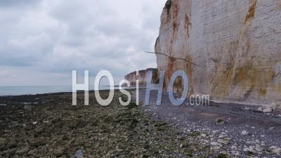 White Cliffs In Normandy, Saint-Martin-Aux-Buneaux- Video Drone Footage