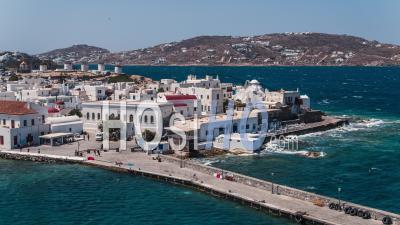 Mykonos, Cyclades Islands, Greece - Video Drone Footage