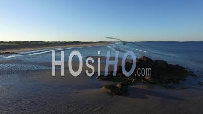 Dunes And Beach Of Kerhilio Seen By Drone