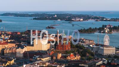 Vue Aérienne De Helsinki, La Cathédrale D'helsinki, Finlande - Vidéo Drone
