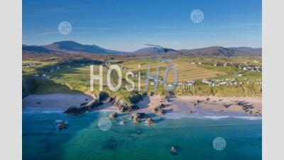 Drone Shoot Over Coastal Village In Highlands - Aerial Photography