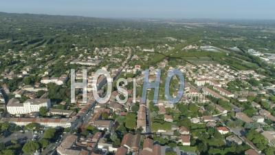 Saint-Remy-De-Provence Village In Provence - Drone Point Of View