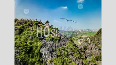 Aerial Panoramic Hang Mua , Mua Cave Mountain , Tam Coc - Aerial Photography